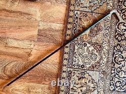 Sophisticated English Walking Cane, Silver Handle, Ebonized Shaft, Hallmarks