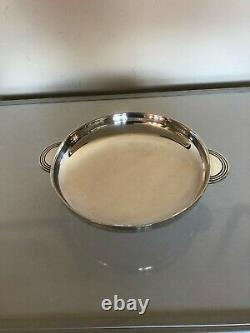 Stunning Art Deco Two Handled And Footed Silver Plated Bowl (elkington & Co)