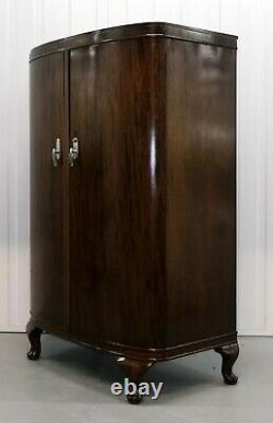 Stunning Waring & Willow Ladies Wardrobe With Shelves & Bow Front Cabriole Legs