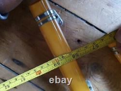 Vintage Antique bakelite lucite plastic phenolic amber yellow door handle pull