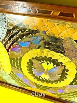 Vintage Art Deco Butterfly Wing Artisan Serving Tray