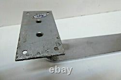 Vintage Art Deco Large Brass Chrome Plated Industrial Commercial Door Handle