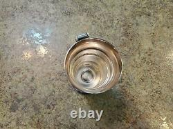 Vintage Art Deco Silver Plate Graduated Squeeze Handle Bar Liquor Measure Cup
