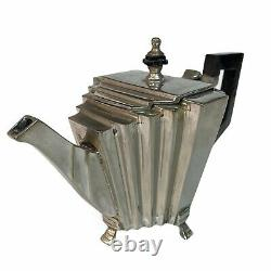 Vintage Art Deco Silver Teapot Bakelite Handle