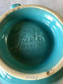 Vintage Fiestaware Turquoise Medium Teapot Fiesta Blue C Handle Tea Pot
