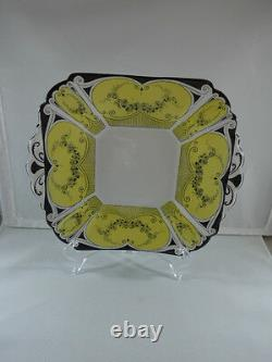 Vintage Shelley China Queen Anne, Handled Cake Plate 1926 Art Deco #723404