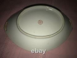 Vintage TT Japan Lusterware Art Deco Lady Oval Handled Bowl Noritake Style