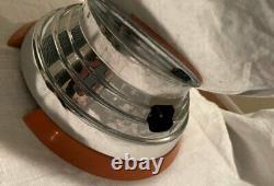 Vtg Art Deco Large Chrome Coffee Percolator Bakelite Base Handle Manning Bowman
