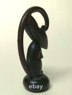 WHW HAGENAUER Austria RARE CANE HANDLE Bronze RAT Vienna ART DECO