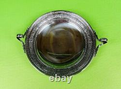 Wedgwood By International Sterling Silver Footed Plate With Handles. 137.8 Grams