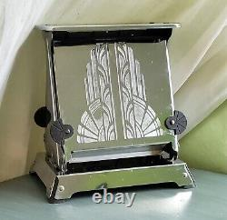 Westinghouse 1914 Turnover Toaster, Art Deco TTC-94 Chrome Cathedral Fan Handles