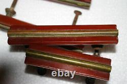 10 Vintage Amber Butterscotch Bakelite Drawer Pulls Handles Art Déco Brass