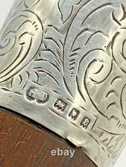 1920 Art Deco London Taitelbaum Co Ornate Poignée Sterling Canne À Pied