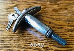 1920s 1930s Tshaped Handle Avec Keys Vtg Serrure De Couvercle De Pont Extérieur