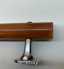 2 X Vintage Butterscotch Phénolique Cataline Bakelite Poignée De Porte-approx 21mm Dia