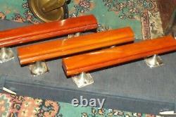 3 Pièces Phénoliques D'art De Vintage Deco Ambre Bakelite 8 492 Grammes