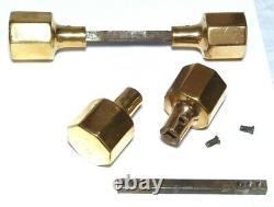 5 X Splendid Pairs Vintage Qualité Brass Hexagonal Art Deco Handles 1920s