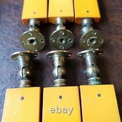 8 Art Deco Phénolique Ambre Butterscotch Bakelite Tiroir Dresser Pull Poignée Knob
