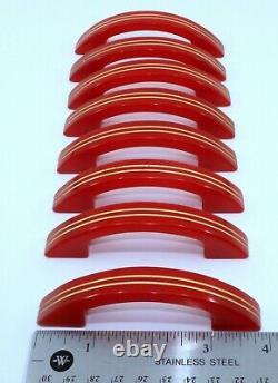 8 Vintage Art Déco MID Century Cherry Bakelite Catalin Drawer Tire Poignées