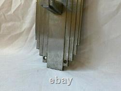 Antique Art Déco Nickel Brass Door Pull Handle Vtg Industrial Grab Bar 630-20e