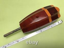 Antique Cherry Amber Faturan Bakelite Umbrella Cane Handle Art Déco Allemagne