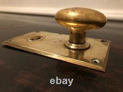 Antique Lightweight 1920s Laiton Oval Vintage Poignées Avec Plaques Arrière Gr2200