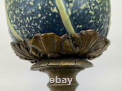 Antique Roseville Pottery Tournesol Des Années 1930 Art Déco Lampe De Table Manipulé Vase Pot