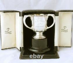 Argent Massif Trois Poignées Boxed Sport Trophy Le Martin Cup Laing Glasgow 1935