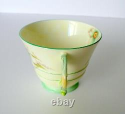 Art Déco Paragon Floral Handle Tea Cup & Soucoupe Set