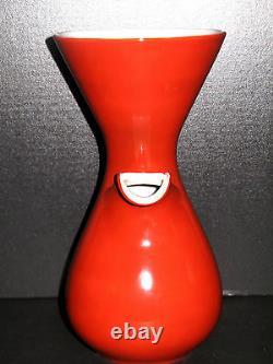 Art Déco Retro Vintage Carafe Tea Pot Wicker Ratan Handle Japan Porcelaine