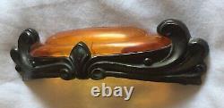 Brass Bakelite Antique Hardware Art Deco Tiroir Poignée 3 3/4 Centre