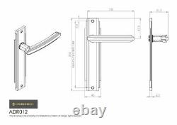 Carlisle Brass Adr01/cp/sn Art Deco Lever Sur Poignée De Porte (pair)