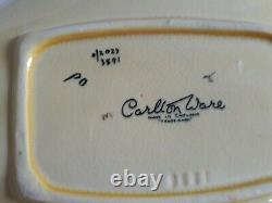 Carlton Ware Sketching Oiseau À Deux Manches De Plat 3891