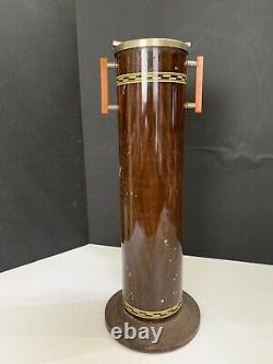 Cendrier De Sol En Métal Art Déco Antique Avec Poignées Bakelite Butterscotch