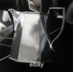 Folgate Silverplate Wood Handle Art Déco Coffee/tea Set Folgate Silverplate Wood Handle Art Déco Coffee/tea Set Folgate Silverplate Wood Handle Art Déco Coffee/tea Set Folgate Silverplate