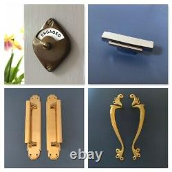 Grand Chromé Art Déco Front Door Center Knob Handle Centre Plate Letter Knocker