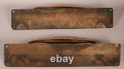 La Porte En Laiton Art Déco Manipule Antique Récupéré Antique