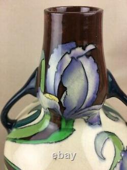 Le Vase À Deux Poignées Foley Art Deco Intarsio (3387) Wileman & Co Angleterre