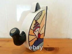 Lorna Bailey Teapot Art Déco Cruise Design Novelty Tea Pot T-handled Nouveau
