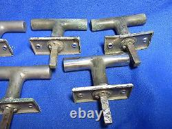 Lot De 5 Original Art Déco Bauhaus Metal Windows Handle Gropius Time #e