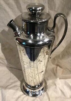 Meriden International Argent Assiette No 314 Cocktail Shaker 56 Ounce Art Deco Era