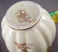 Paragon Star Gloire De Dijon Flower Handle Bone China Cup & Saucer Cond. Enjeux