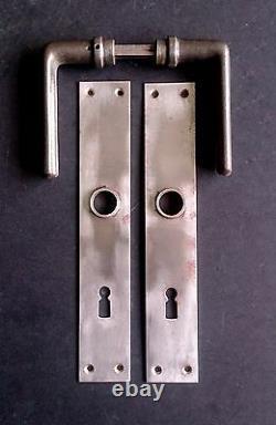 Poignées De Portes En Fonte De L'architecte Moderniste Hans Poelzig Bauhaus 1930s Salut