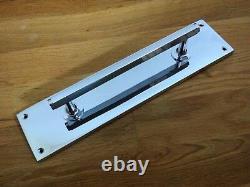 Poignées De Traction De Porte Chrome Art Déco (paires) Boutons Grab Push Plates Large