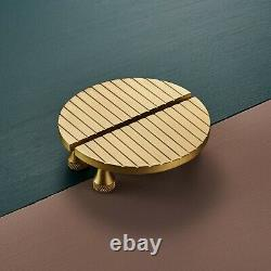 Poignées Modernes Art Déco Small Striped Brass Half Moon Door Wardrobe Handles