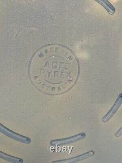 Pyrex Agee Bleu 8 Pie Plate Avec Berceau Et Poignées Bakelite Pyrex Australien
