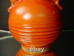 Red Wing Art Pottery Art Déco Manipulé Lampe 994 Scarlet