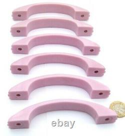 Set 6 X Pink Bakelite Plastic Art Deco Chest Drawers Door Pull Handles 1930s-50s