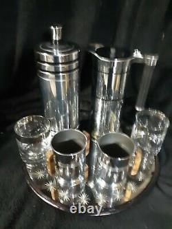 Set De Bar De Shaker/pitcher Art Deco Cocktail. Fabriqué Par La Chase Co Et Sunbeam