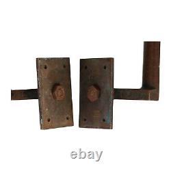 Une Paire De Poignées De Porte Art Déco Pull En Bronze Et Émail Original Circa 1920
